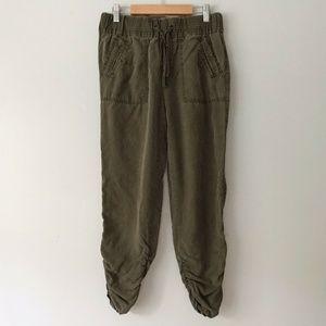 Anthropologie Hei Hei Army Green Tencel Joggers 2